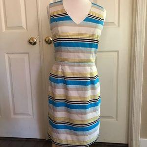 Banana republic striped dress size 4 Multicolor.